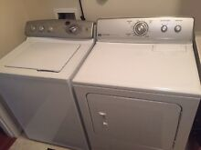 GE washer and Maytag dryer