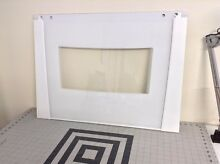 Whirlpool Oven Outer Door Glass  white   28 X 20 3 4  8303306