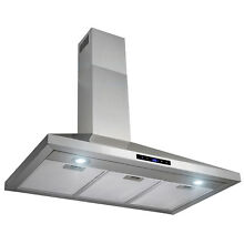 36  Stainless Steel Kitchen Wall Mount Range Hood Touch Control w  Mesh Filters