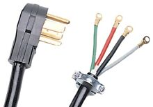 4 Wire Dryer Cord 10ft Electrical Replacement Power Cords Prong Plug 30A 10 AWG