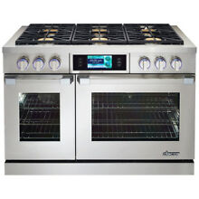 Dacor Discovery iQ  DYRP48DCLP 48 Inch Slide in Dual Fuel Range