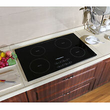 31 5  Induction Hob 4 Zon IH Cooktops Black Glass Plate Built in Electric Cooker