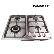 23inch Stainless Steel Kitchen 4 Burners Built In Gas Cooktop LPG NG Cooker