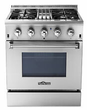 Dual Fuel 30  Professional Range Thor Kitchen Stainless Steel 4 Burner HRD3088U