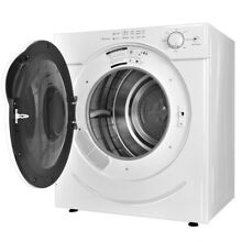 Bathroom 110V 3 21 Cu  Ft  Electric Tumble Compact Clothes Dryer White Equipment
