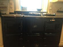 Blk on Blk 60  Gas Aga Stove Cooker excellent condition