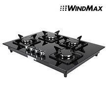 Euro Style 28  Black Glass 4 Burner Built In Stove NG Natural Gas Cooktop Cooker