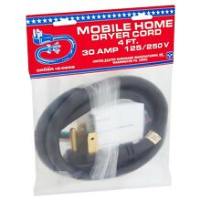 USH 4ft 30 Amp 125 250 V Mobile Home Dryer Cord
