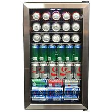 New Air 126 Can Stainless Steel Beverage Cooler