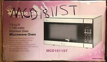 Magic Chef MCD1811ST 1 8 Cu 1100 watt Stainless Steel Countertop Microwave Oven