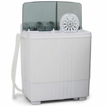 Portable Electric Washing Machine with Spin Dryer van camping tiny house   White