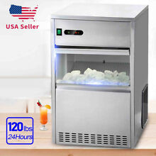 Bullet Ice Cube Maker Machine 95LB DAY 110V Steel Countertop Stainless Built In