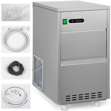 Stainless Steel Stylish Portable Freestanding New Home Ice Maker Machine 44lbs