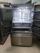 KitchenAid KRFF707ESS 36  French Door Refrigerator Stainless Steel w  Dispenser