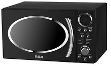 RCA RMW987 BLACK 0 9 cu  ft  Retro Microwave  Black