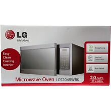 LG 2 0 cu ft Countertop Microwave Oven with EasyClean LCS2045WBK