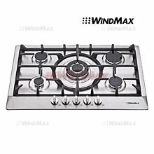 USED Seller Refurbish   30  Stainless Steel 5 Burner Stoves Gas Cooktops