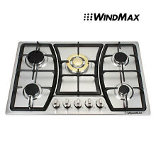 USED but NEW Seller Refurbish   30  Stainless Steel 5 Burner Gas Cooktops