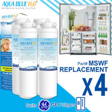 4 x GE MSWF Premium Compatible Fridge Water Filter Replaces Aqua Blue MSWF WF