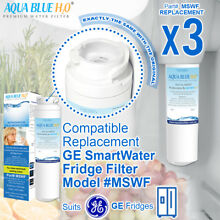 3 x GE MSWF Premium Compatible Fridge Water Filter Fits PCF25PGWA PSC23MSWA