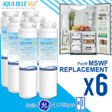 6 x GE MSWF Premium Compatible Fridge Water Filter Fits DSF25KGWA DSS25KSWA