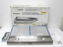 Whirlpool   30  Convertible Range Hood   Stainless Steel WVU37UC0FS   Used Read