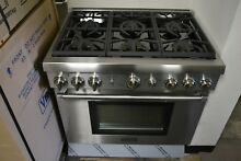 Thermador 36  Stainless Steel Pro Harmony Convection Natural Gas Range PRG366GH