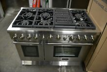 Thermador 48  Stainless Steel Pro Harmony Convection Natural Gas Range PRG486NLH