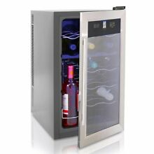 NutriChef Thermoelectric Wine Cellar   Red and White Wine Cooler  Dual Zone Wine