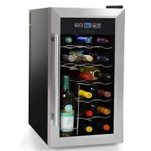 NutriChef 18 Bottle Thermoelectric Wine Cooler   Chiller   Counter Top Red And