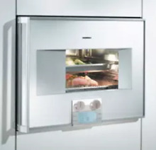 Gaggenau BS270 610 24  Plumbed Right Hinged Steam Oven Stainless Steel