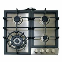 OpenBox Magic Chef MCSCTG24S 24  Gas Cooktop with 4 Burners  Stainless Steel