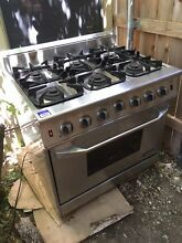 NXR NRG3602 Kitchen Range  Gas  6 Burner Range  36  Stainless Steel AS IS  USED