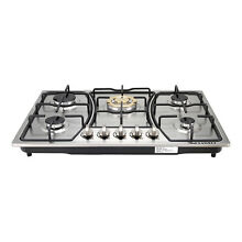 30  Stainless Steel 5 Burner Built In Gas Cooktops Cooker with Gold Main Stoves