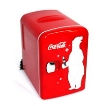 Coca Cola Red Mini Refrigerator Dorm Office Small Fridge Cooler 12 oz  Can
