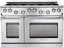 Electrolux E48DF76EPS 48  Dual Fuel Pro Range w 6 Burners and 2 Convection Ovens