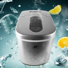 2 2L Countertop Portable Ice Maker for Home Bullet Ice cube Machine 12kg per day
