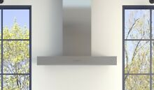 Zephyr ZROM90CS 36  Europa Roma Wall Mounted Chimney Hood in Stainless Steel
