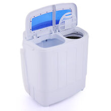 Portable Mini Washing Machine Compact Twin Tub Washer Spin   Dryer New