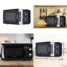 Compact Microwave Oven Home Office Dorm Small Kitchen Counter Top Appliances BLK