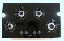 Thermador 36 in  Black Glass Gas Cooktop Model GG 36 GOOD Condition