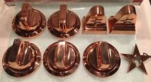 BLUESTAR PRECIOUS METALS KNOB SET FOR 4 BURNER W OVEN STOVE  COPPER COLOR