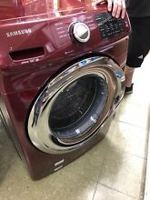 Samsung 4 2 cu ft High Efficiency Stackable Front Load Washer  Red  ENERGY STAR