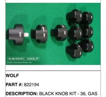 WOLF KNOB KIT BLACK  822194 FOR 36  RANGE