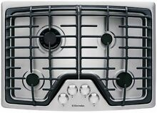 ELECTROLUX 30  Wide Gas 4 Burner Stainless Steel Cooktop  Model EW30GC55PS  NEW