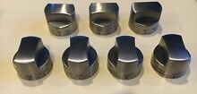 VIKING STAINLESS KNOB SET FOR DUAL FUEL 30  STOVE