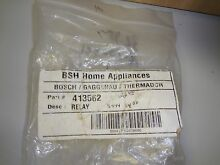 BOSCH THERMADOR RANGE COOKTOP RELAY 413562 NEW IN THE BAG