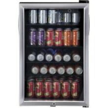 Genuine Haier   HEBF100BXS 150 Can Stainless Steel Beverage Refrigerator