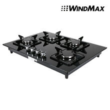 28in BlackTempered Glass 4 Burners Built In Cooktop Natural Gas Stove Cooker