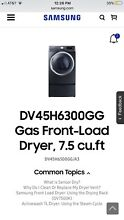 Samsung Front Load Gas Dryer